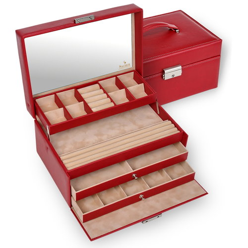 jewellery case Jette/ dollarino, red