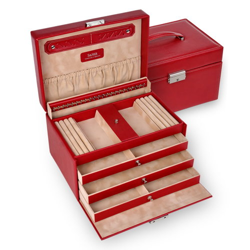 jewellery case Julia/ dollarino, red