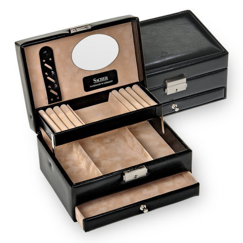 jewellery box Carola/ new classic, black