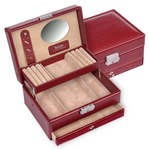 jewellery box Carola/ new classic, red