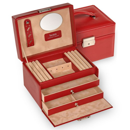 jewellery box Eileen/ new classic, red