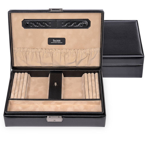 jewellery box Ilka/ new classic, black (leather)