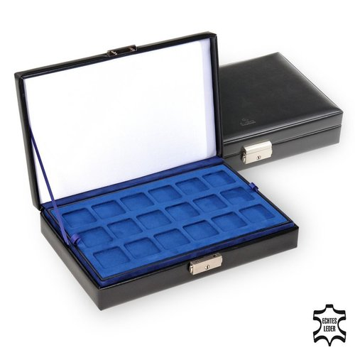 case for coins / new classic, black (leather)