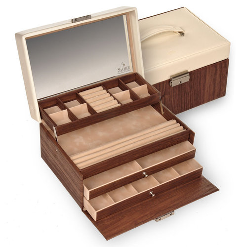 jewellery case Jette/ nortic style, mahagoni