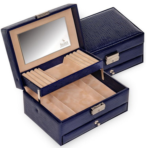 jewellery box Carola/ verona lac, navy