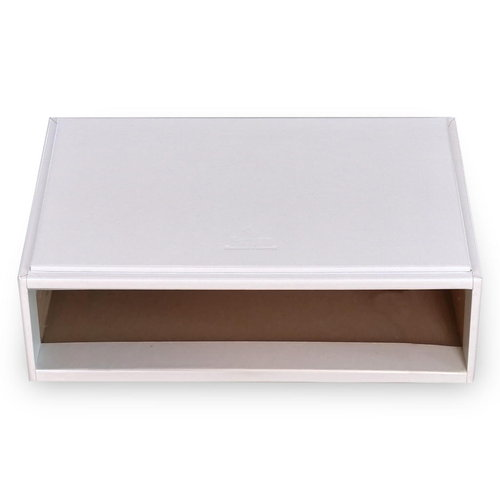 flex-module (without drawers) VARIO, leather / vario, white