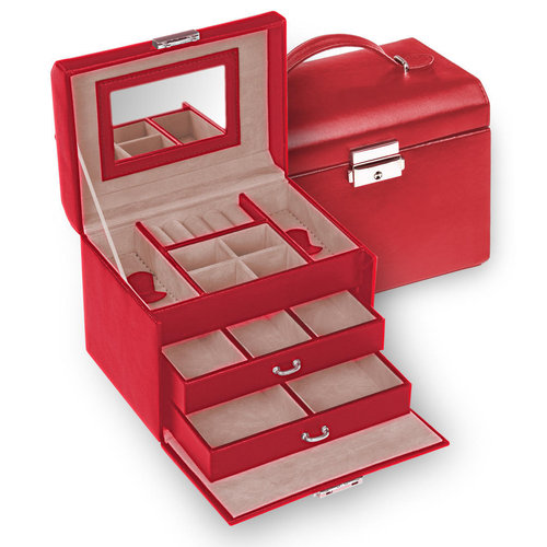 jewellery case Sonja/ standard, red