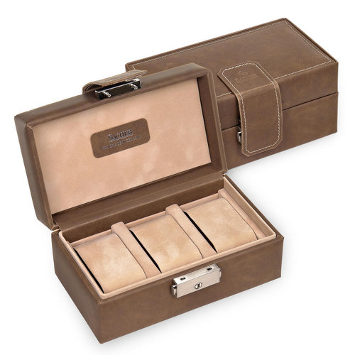 case for 3 watches / ranch, brown
