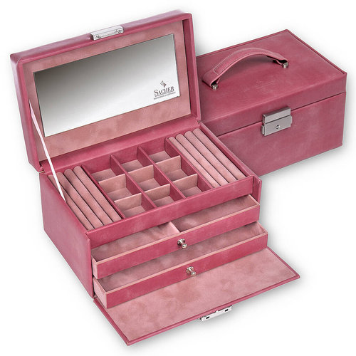 jewellery case Elly/ pastello, old rose