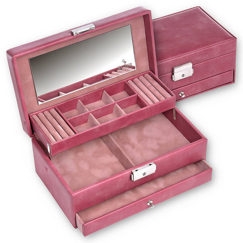 jewellery case Helen/ pastello, old rose