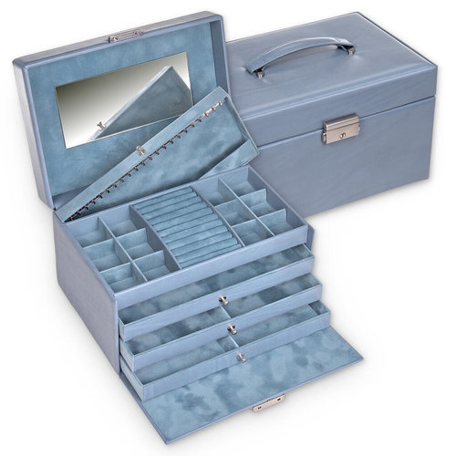 jewellery case Jasmin/ pastello, aqua